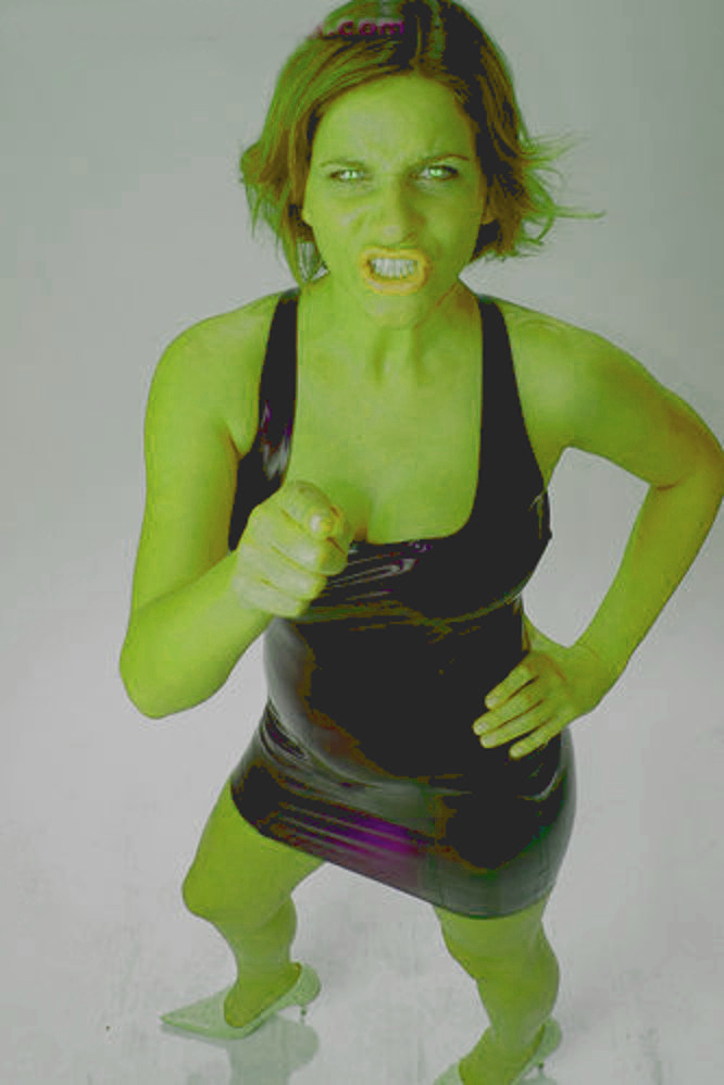 She Hulk Woman Girl Angry Rubber Dress By Jcvcomfg On Deviantart