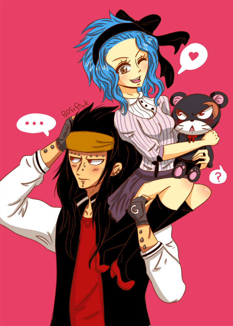 a gajeel x levy fashion by poofypink on deviantart