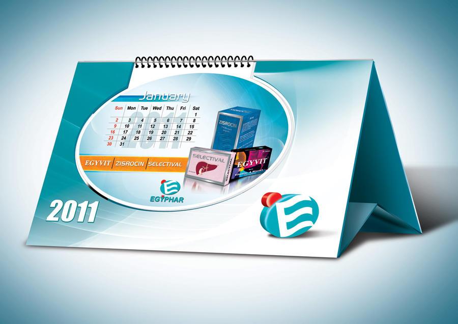 Corporate Calendar Design : Desk calendar by boyasseen on deviantart
