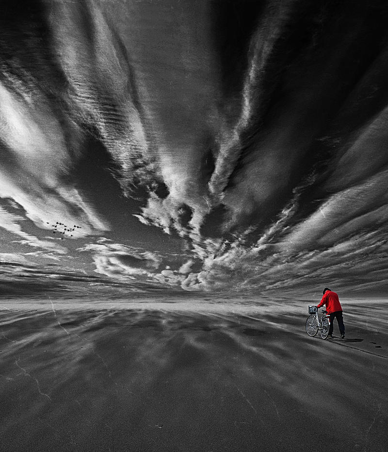 I walk alone by Infinius-Arts