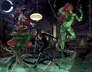 Deadpool and the Sirens- Color by pikapikaichigo