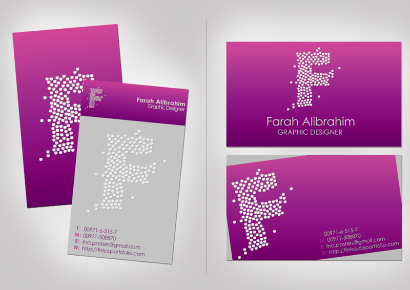 purple business cards by FNIsa