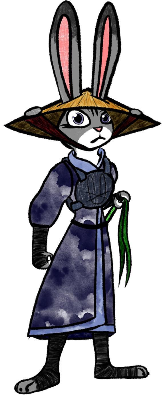 Judy the Samurai (color) by CashWolf14