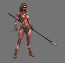 Jayla the jungle woman by barbachossa