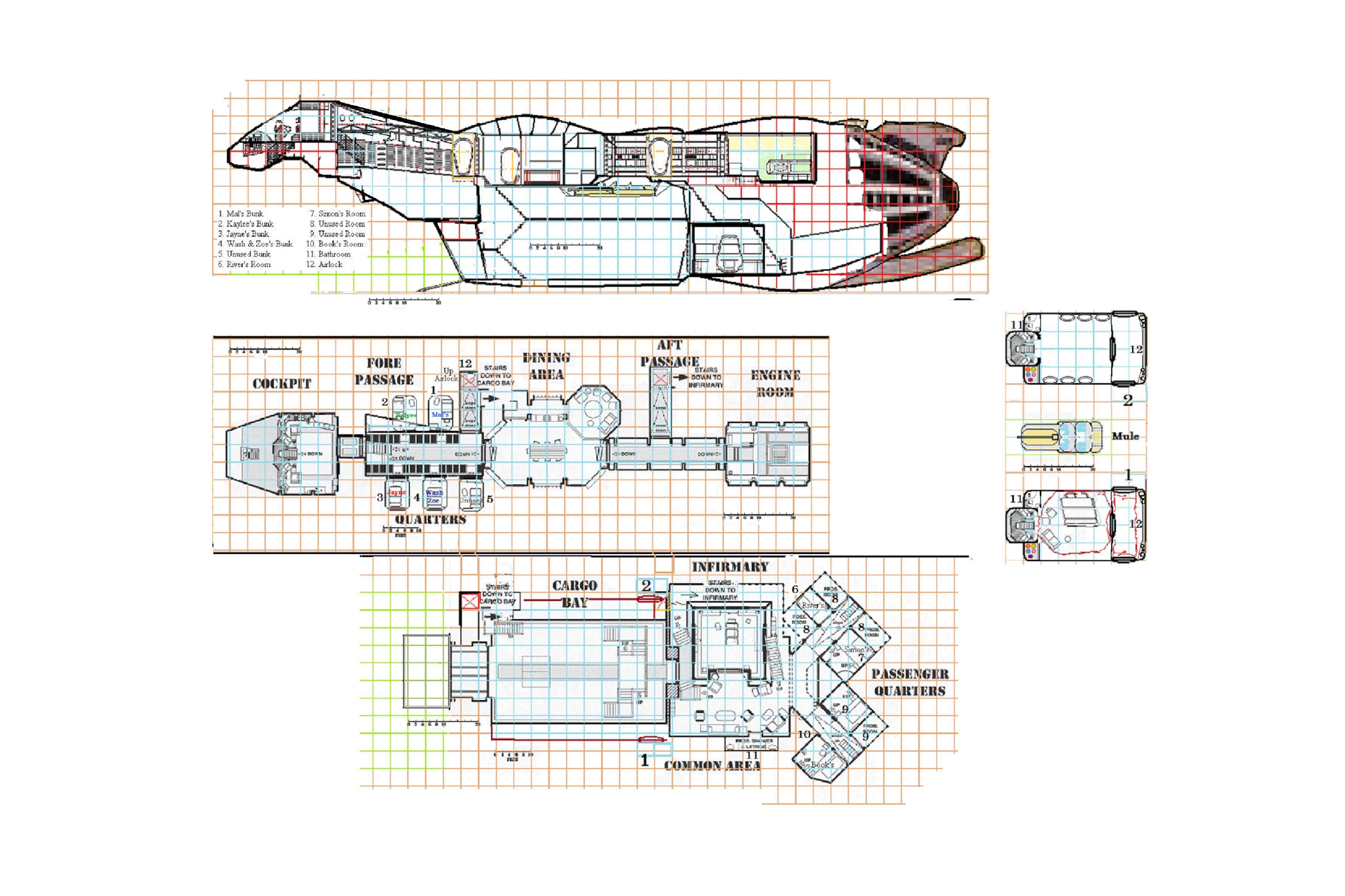 firefly ship schematics    radwulf59.deviantart.com