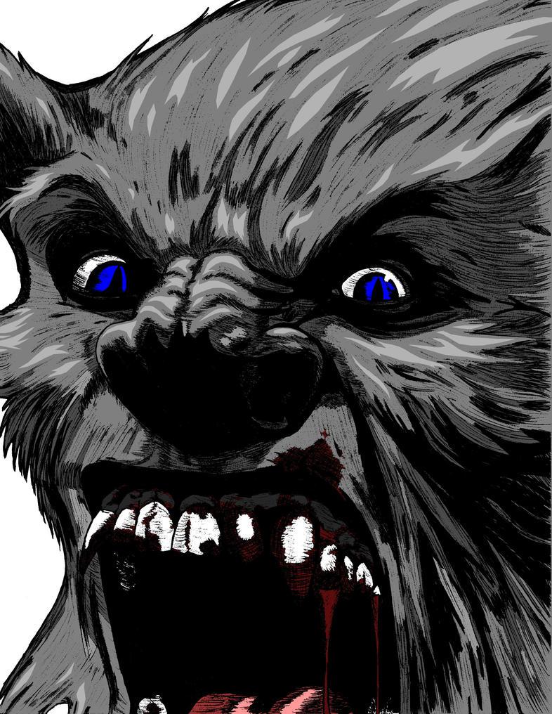 Big Blue Wolf by nightcat17