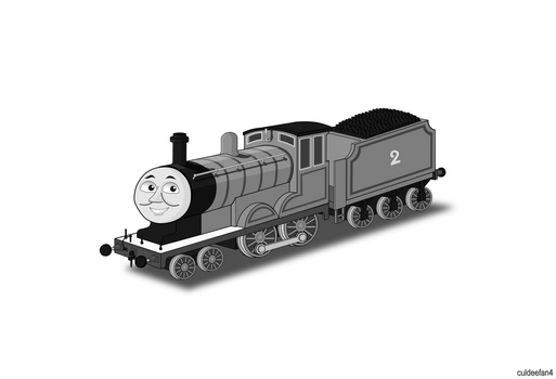 Edward the blue engine Portrait Grayscale
