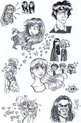 Harry Potter sketchdump by Shmivv