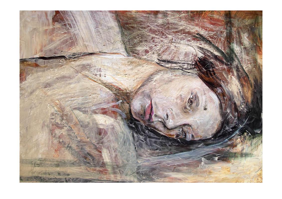 Lying woman by mickey03