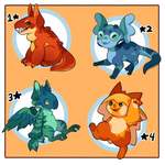 [OPEN 2/4] RoL: 'Lythpets' Themed Adopts