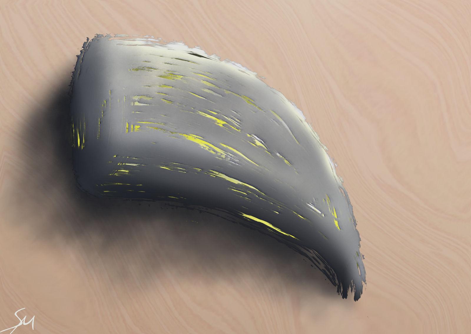 Inlaid Stone Horn