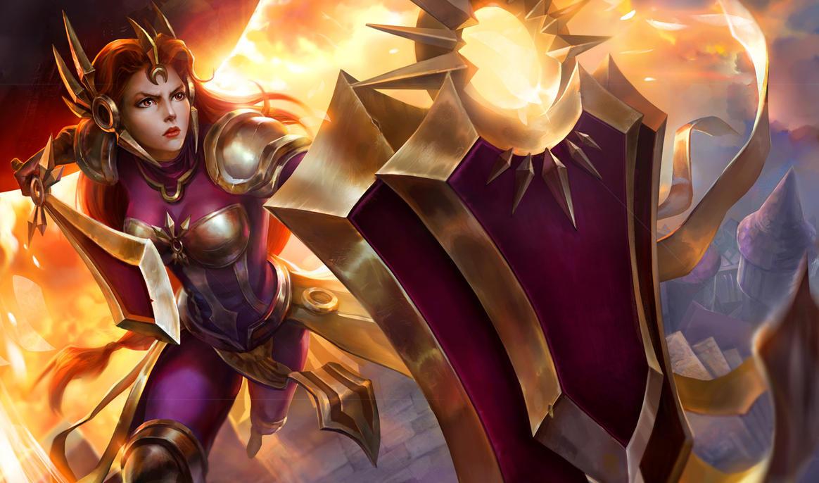 League of Legends: Leona by AnastasiaReddress on DeviantArt