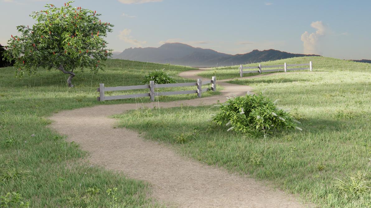 Grassy land by Shijanai