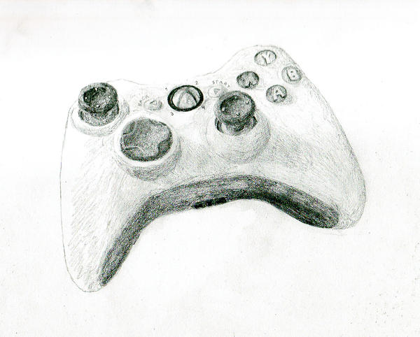 Scribble Drawing Xbox One : Ecksbawks controller sketch by randomorder on deviantart