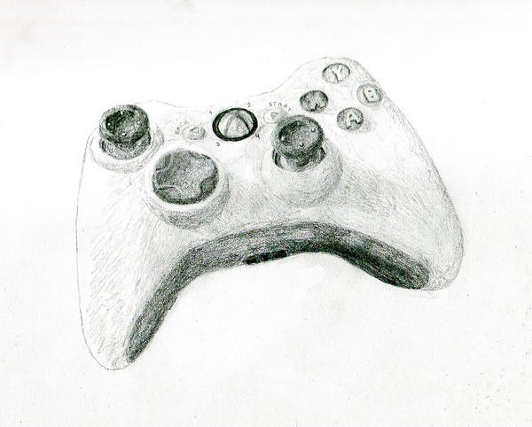 D Line Drawings Xbox One : Ecksbawks controller sketch by randomorder on deviantart