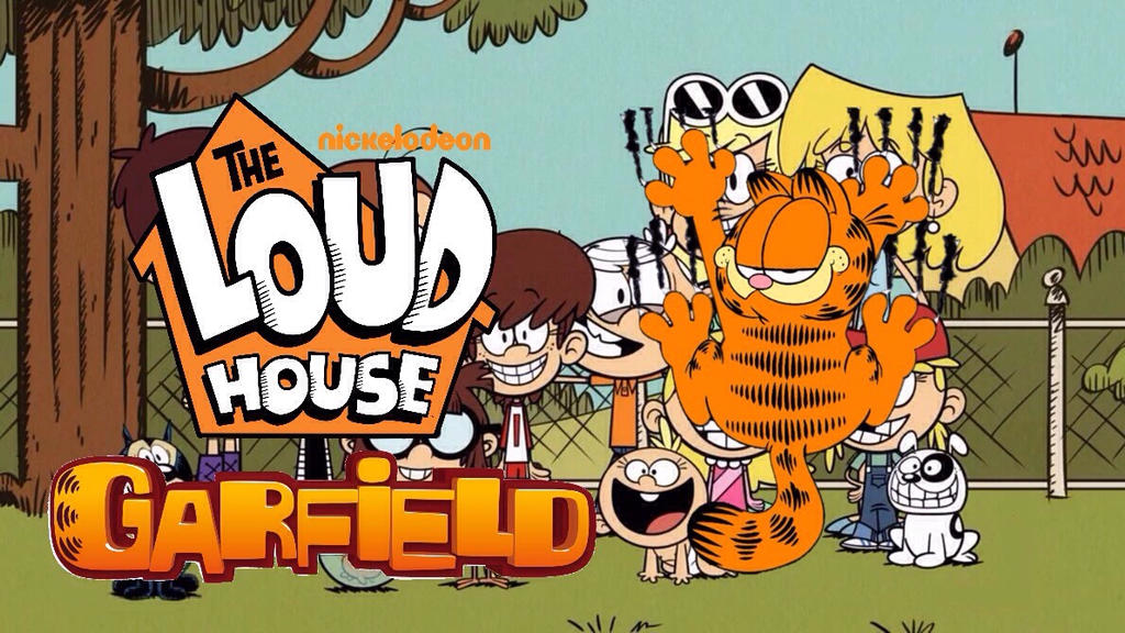 The Loud House Meets Garfield Poster By Cartoonmaster01 On