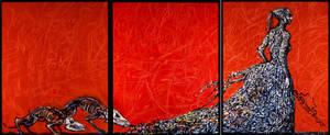 Mater Motley Triptych, Abarat 3, pages 416-417 by CliveBarker
