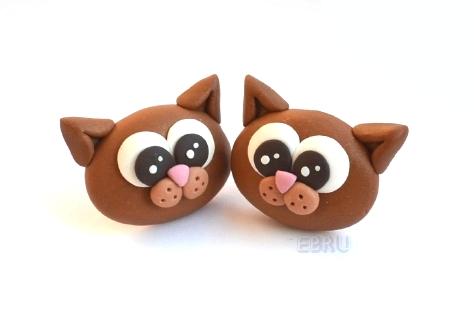 Kittens - earrings by Lovely-Ebru