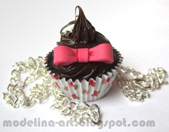 Chocolate cupcake pendant by Lovely-Ebru