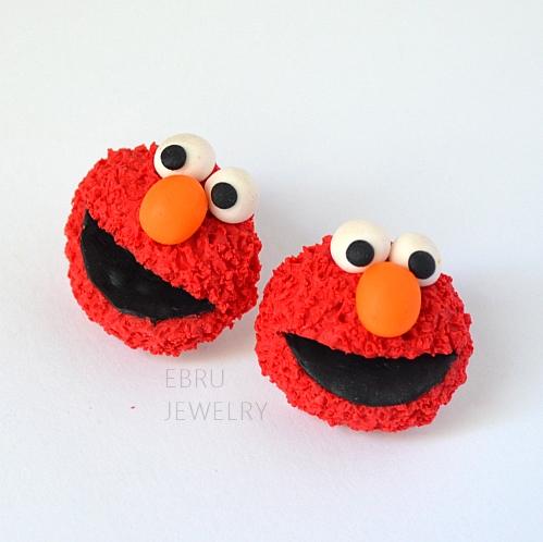 Elmo earrings by Lovely-Ebru