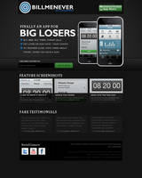 iPhone app Promotion website by vivrocks