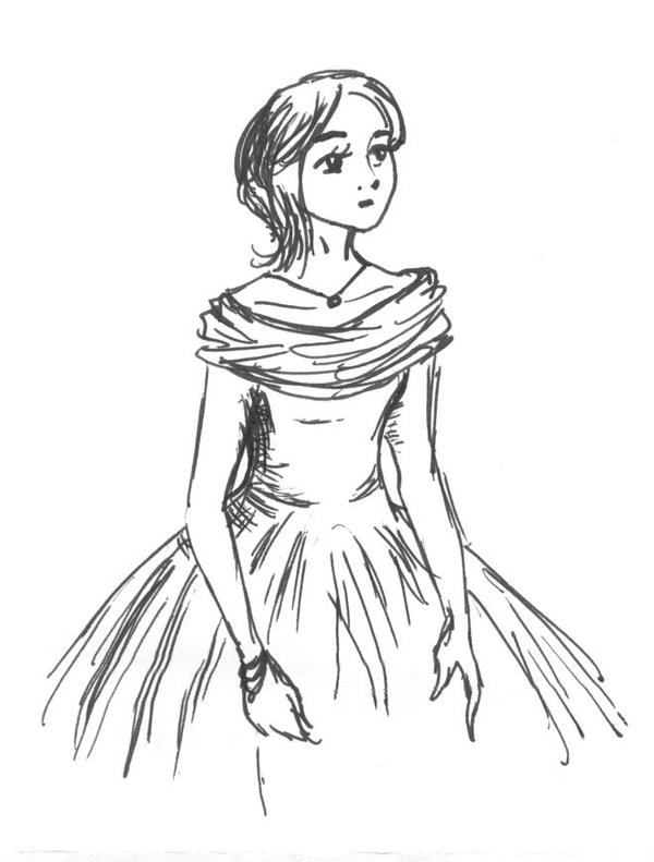 Quick Sketch- girl in ballgown by Jindalay on DeviantArt