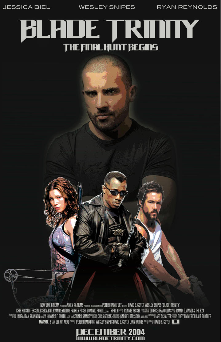 Blade Trinity Movie Poster by aburameshino122