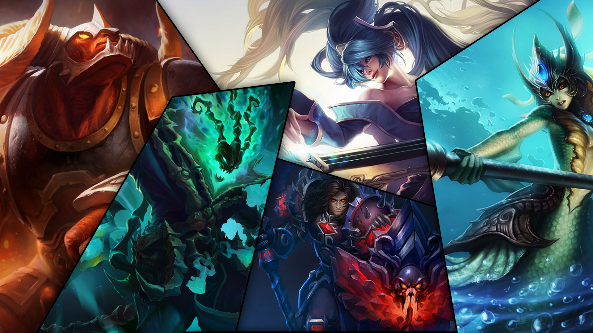 collage league of legends champions wallpaper by