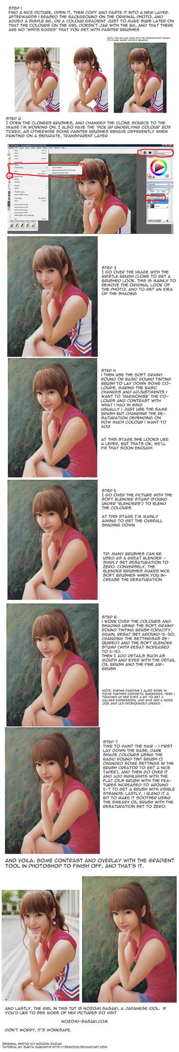 Portrait Paintover tutorial by Serio555