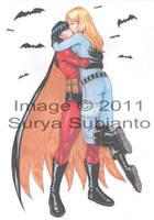 Red Robin+Batgirl comission by Serio555