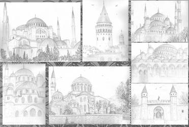 Travel Sketches - Istanbul by Serio555