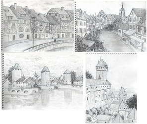 travel sketches - Alsace