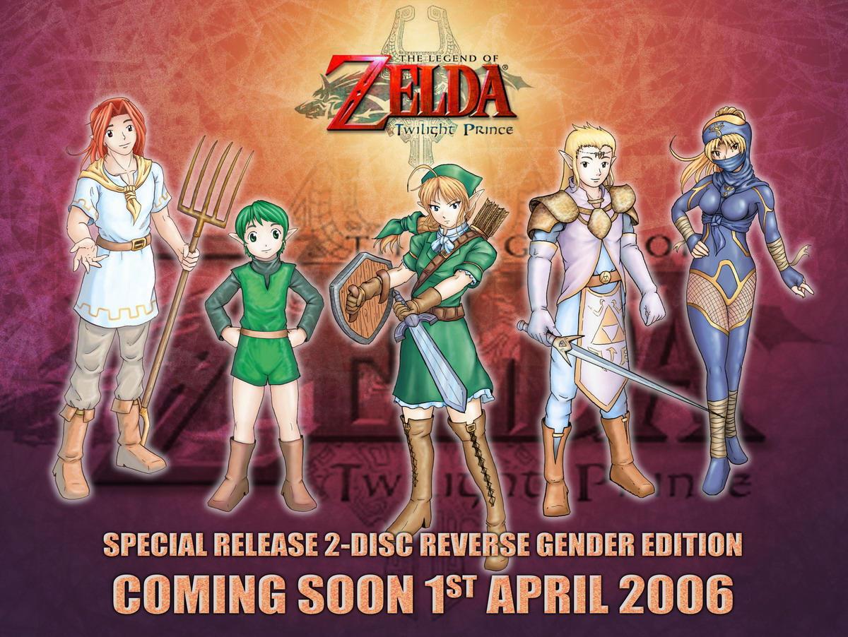 Zelda Gender Benders by Serio555