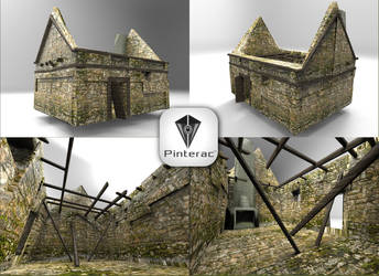 3D Render - Ruined house by Pinterac