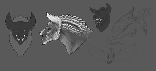 Brute Dragon concepts 1 by Starchy-Tater