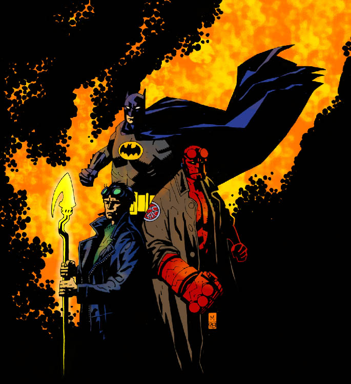 Hellboy Starman Batman colors by RCarter
