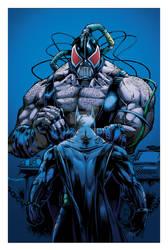 Batman vs Bane colors