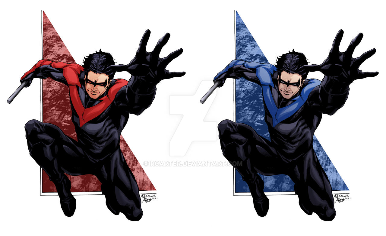 Nightwing SOTD Ratkins Red Blue Colors By RCarter