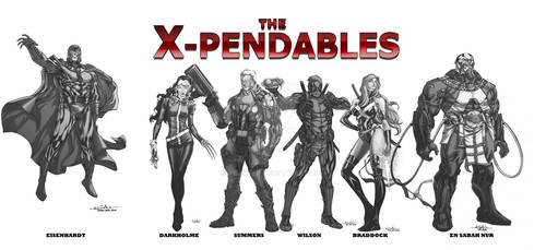 WIP the X-Pendables blkwht