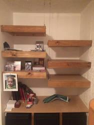 Shelf, half and half