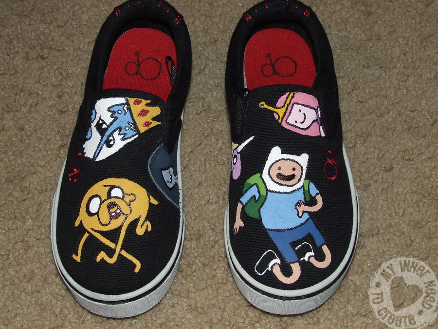 adventure time shoes by jessif3 on deviantart