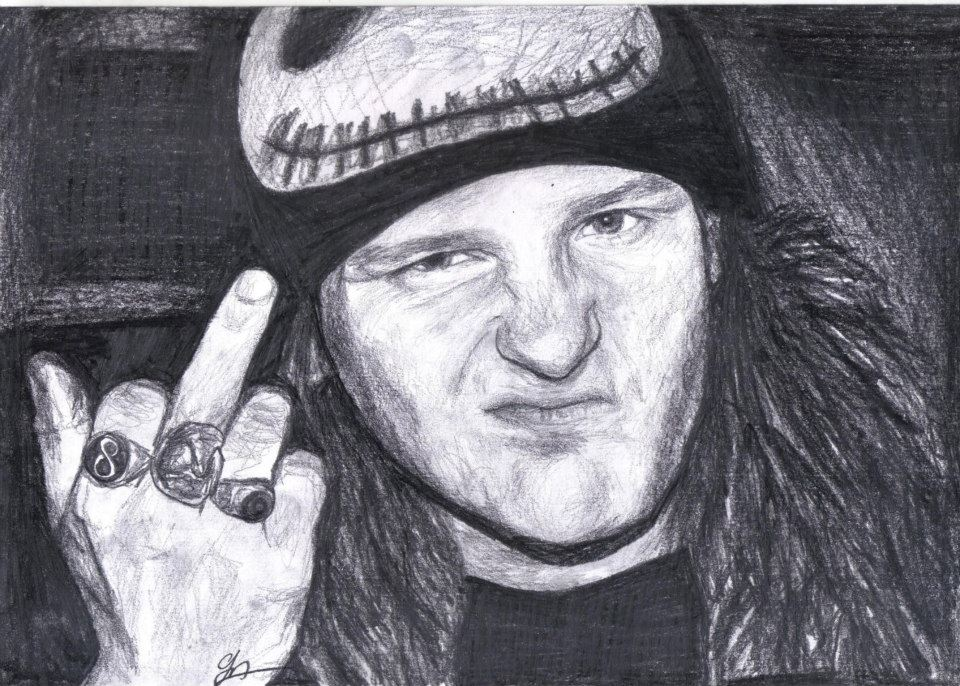 drawing portrait corey taylor from slipknot by