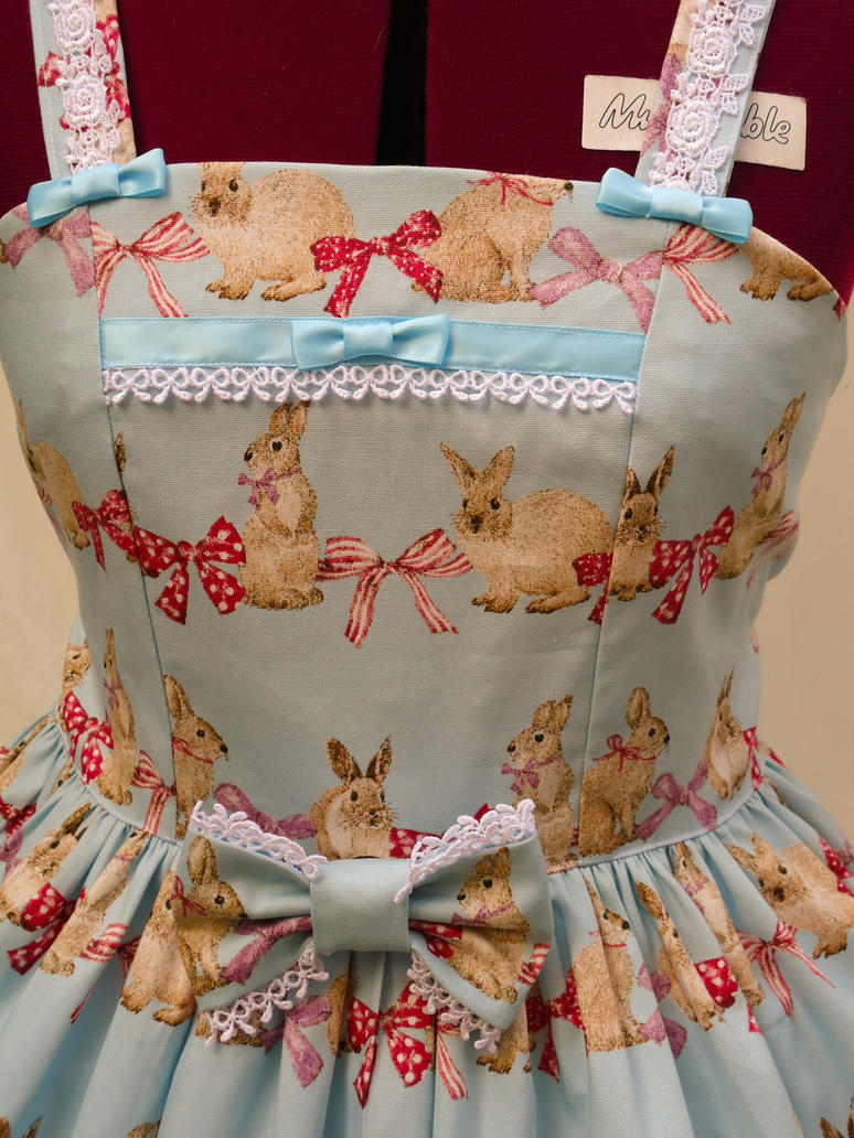 Ribbon Rabbit Jumperskirt by sweetmildred