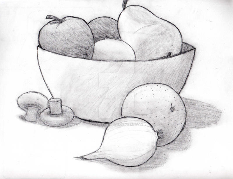 fruit bowl drawing sugar content in fruit