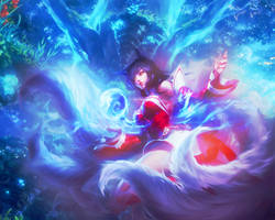 Ahri - League of Legends Wallpaper