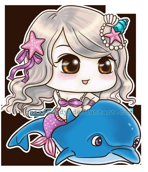 U2ltraviolet Mermaid Chibi By Chilicandy On DeviantArt
