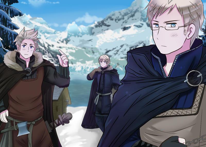 [AT] Viking Trio by XXXxVivixXXX