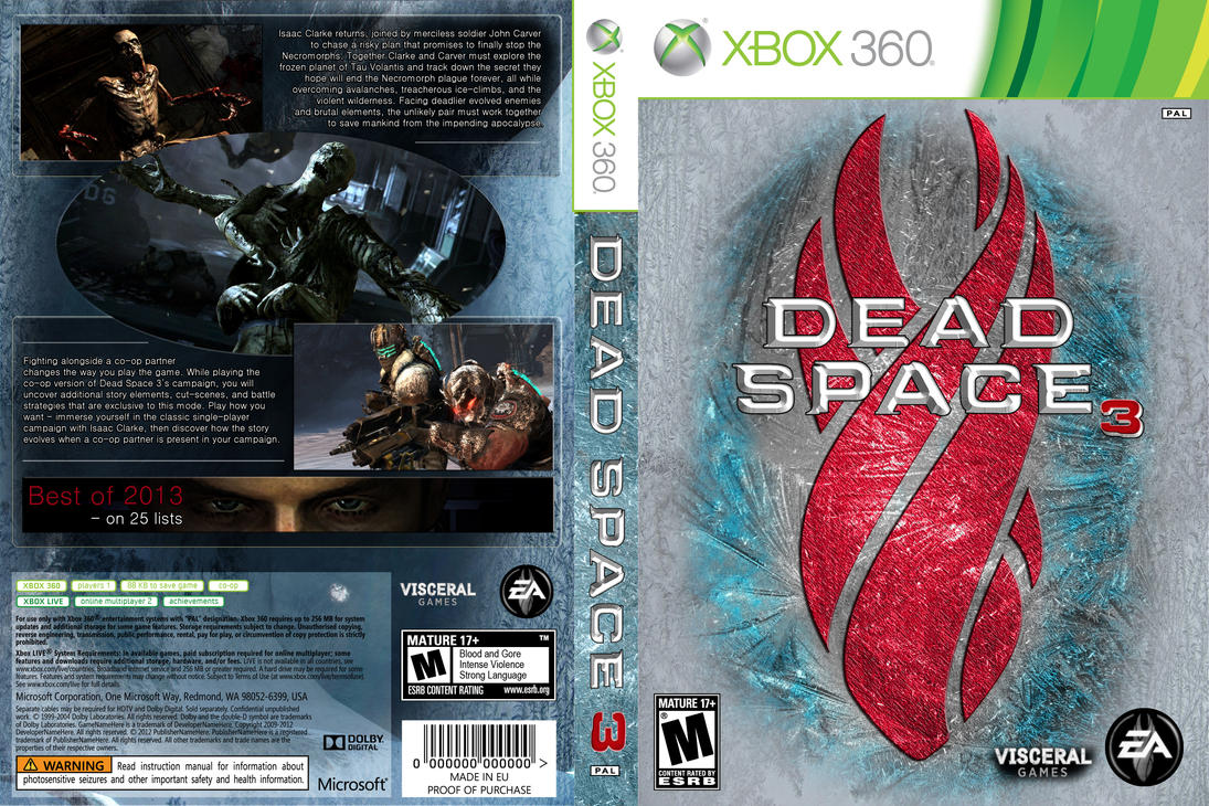 dead space 3 cover design by bulletreaper117 on deviantart rh deviantart com dead space chapter 3 manually ignite the engine dead space 3 ps3 manual