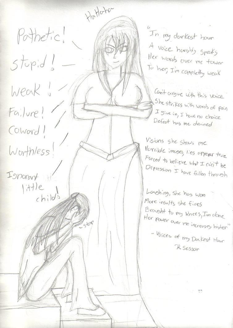 Voice of Darkness uncolored by GoddessSpiritwolf