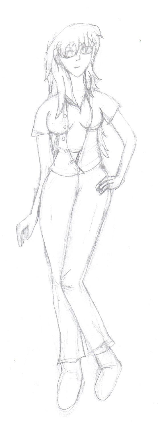 Human Tigrera sketch by GoddessSpiritwolf